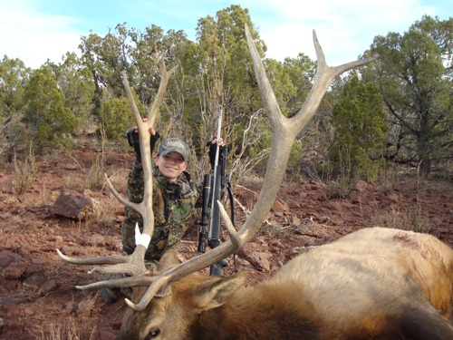 Michael with an Arizona bull elk
